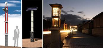 街の演出:街のテーマを語る街路灯